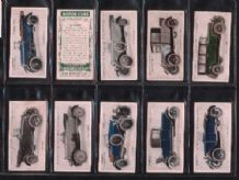 Cigarette cards Motor Cars 1923 set of 25 tobacco card